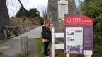 MMBear with Michele at Clifden suspension bridge